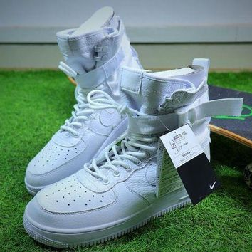 VON3TL Nike Special Forces Air Force 1 SF AF1 Boots All White Shoes Sneaker