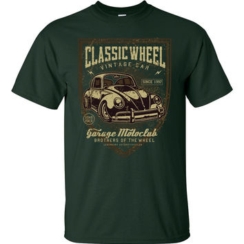 Classic Wheels Volkswagen Short Sleeve T-Shirt up to 5XL