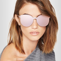 Karen Walker - Star Sailor Superstars round-frame acetate and rose gold-tone mirrored sunglasses