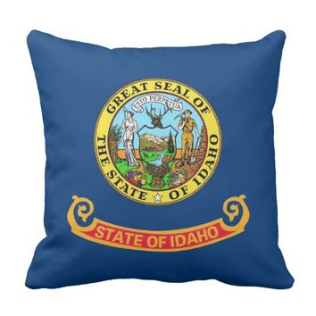 Idaho State Flag American MoJo Pillow