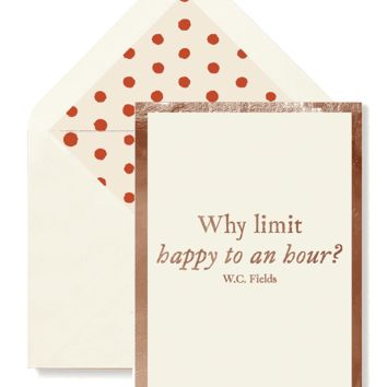 Why Limit Happy To An Hour?, Single Folded Card or Boxed Set of 8