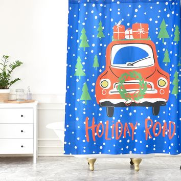 Zoe Wodarz Holiday Road Shower Curtain
