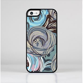 The Abstract Subtle Toned Floral Strokes Skin-Sert Case for the Apple iPhone 5c