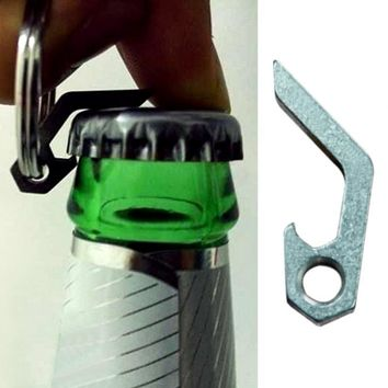 Drinks Kitchen Bar Tools Mini Bottle Opener with Steel Ring for Beer