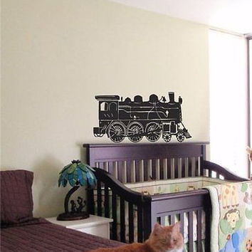 Kids Train Locomotive Nursery Room Decor Wall art sticker decal 12