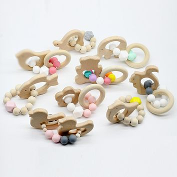 Baby Nursing Bracelets Wooden Teether
