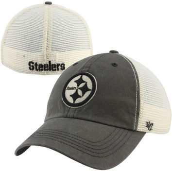 47 Brand Pittsburgh Steelers Caprock Canyon Flex Hat - Natural Charcoal