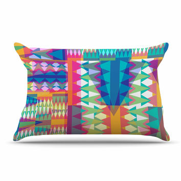 "Miranda Mol ""Triangle Quilt"" Multicolor Geometric Pillow Sham"