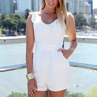 WICKED PLAYSUIT , DRESSES, TOPS, BOTTOMS, JACKETS & JUMPERS, ACCESSORIES, 50% OFF SALE, PRE ORDER, NEW ARRIVALS, PLAYSUIT, COLOUR, GIFT VOUCHER, LONG SLEEVES,,White,CUT OUT Australia, Queensland, Brisbane