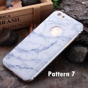 Luxury Wood Grain Back Cover + Metal Bumper Frame Case For iPhone 6S & 6S Plus