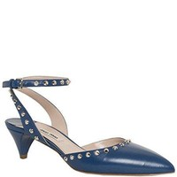 Miu Miu Studded Pointed Ankle-Strap Pumps