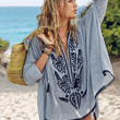 Embroidered Tie-front Tunic - Victoria's Secret