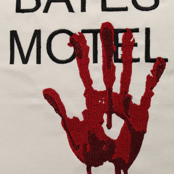 Bates Motel Inspired Embroidered Pillow Case Cover