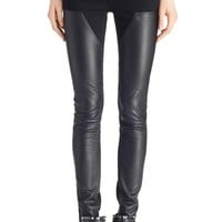Givenchy Leather Panel Skinny Stretch Jeans | Nordstrom