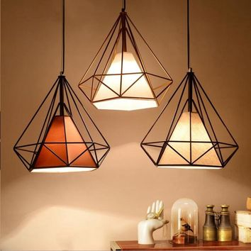 LuKLoy Modern  Simple Frame Pendant Hanging Lamp