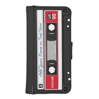 Funny Vintage Red - Music Cassette Tape iPhone 5/5S Wallet Case