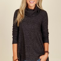 Sweet Talks Turtleneck Sweater Black
