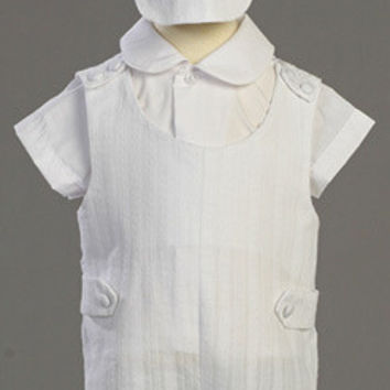 Archie Boys Christening & Baptism Embroidered Cotton Romper