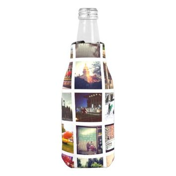 Custom Instagram Photo Collage Bottle Cooler