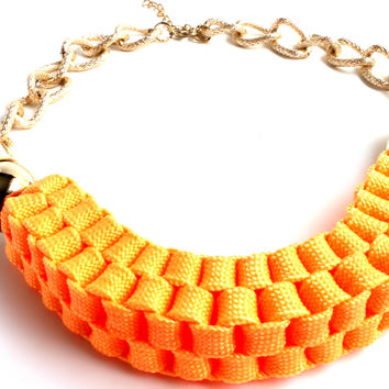 """""""Look On The Bright Side"""" Gold Choker Necklace"""