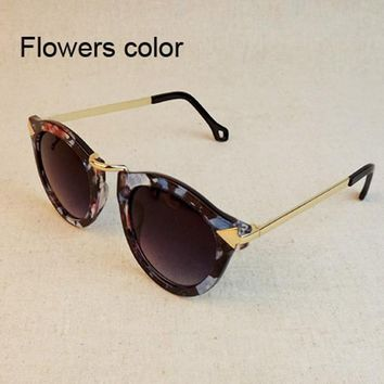 Vintage Trend Sunglasses For Women Men Round Retro Sun Glasses Sports Bike