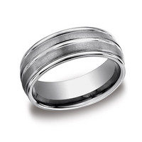 Benchmark 8mm Tungsten Wedding Band