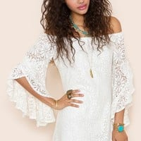 Bardot Crochet Dress