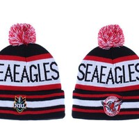 auguau Manly Warringah Sea Eagles Beanies NRL Football Hat