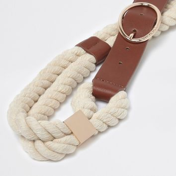 Tan rope waist belt - Belts - Accessories - women