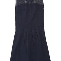 Vanessa Bruno Athé | Lace-trimmed cotton-jersey dress | NET-A-PORTER.COM