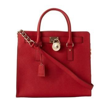 MICHAEL Michael Kors Hamilton Large Saffiano Leather Tote | Overstock.com Shopping - T
