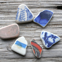 Beach Pottery North Sea English Pottery Colorful Pottery Shards
