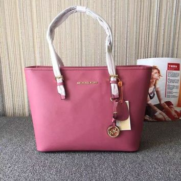 MICHAEL MICHAEL KORS JET SET TRAVEL TZ MEDIUM MULTIFUNCTION CINDER TOTE BAG