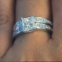 2.03ct G-VS1 GIA Princess Diamond Engagement Ring Platinum  GIA certified