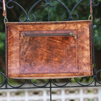 Handmade Leather Purse - Brown Leather Satchel - Cowhide Leather / Hand Bag / Hip Bag / Shoulder Bag / Perfect Birthday Present - Handbag