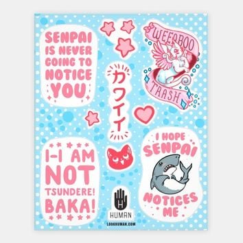 Weeaboo Trash Stickers