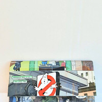 Upcycled Ghostbusters Comic Book Wallet