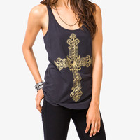 Damask Cross Racerback Tank