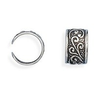 Oxidized 925 Sterling Silver Ear Cuffs