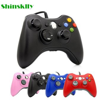 USB Wired Joypad Gamepad For Microsoft Xbox 360 Console Wired Controller Black White Pink Red Blue For XBOX360 PC Game Joystick