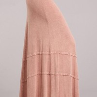 Conch Shell Mineral Wash Maxi Skirt