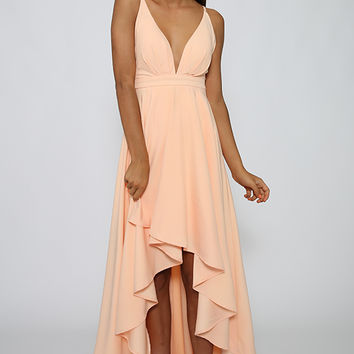 Weaver Dress - Peach