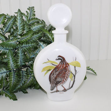Bob White Quail Whiskey Decanter with Stopper, Dant Distillery, Vintage Liquor Decanter