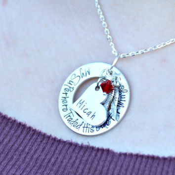 My Superhero Traded His Cape For Wings® - Loss of son - baby memorial necklace mommy of an angel