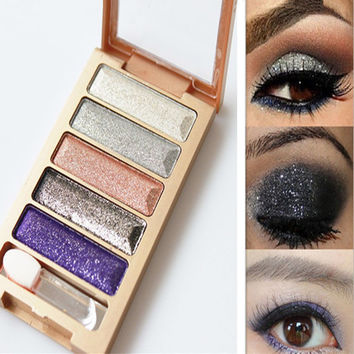 5 Colors Diamond High Qualtiy Pigment Makeup Eyeshadow Pallette