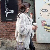 ABYABYGO New Winter Warm Fur Coat Fashion Long Women Black Faux Mink Fur Vest Faux Fur Coat Fox Fur Coat Colete Feminino Jackets