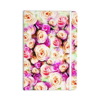 "Dawid Roc ""Sweet Pastel Pink Rose Flowers"" Multicolor Floral Everything Notebook"