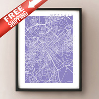 Uppsala Map Print - Sweden Art