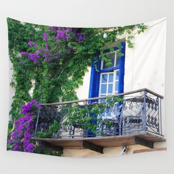 Chania Old Town View Wall Tapestry by Azima