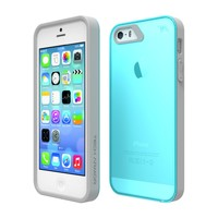 Apple iPhone 5 Case, Tech Armor Apple iPhone 5S / 5 / SE Turquoise/Gray FlexProtect Perfect Fit Case